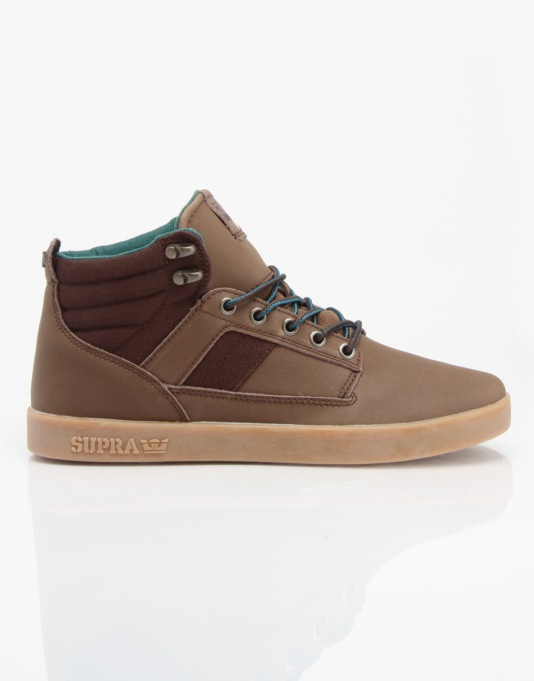 1d0b5d26628f Supra Bandit Skate Shoes - Chocolate Green - Gum