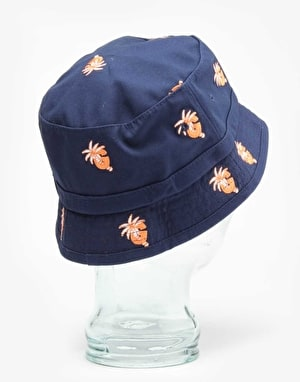 Grizzly Palm G Bucket Hat - Navy