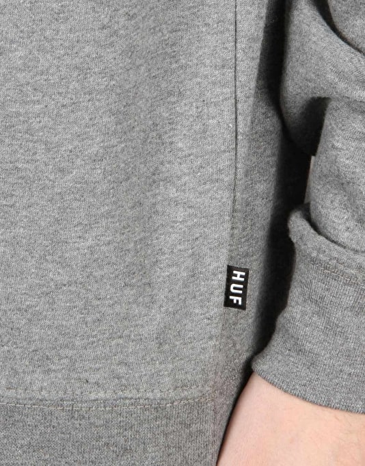 HUF Demi Script Crewneck Sweatshirt - Heather Grey