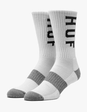 HUF Performance Crew Socks - White