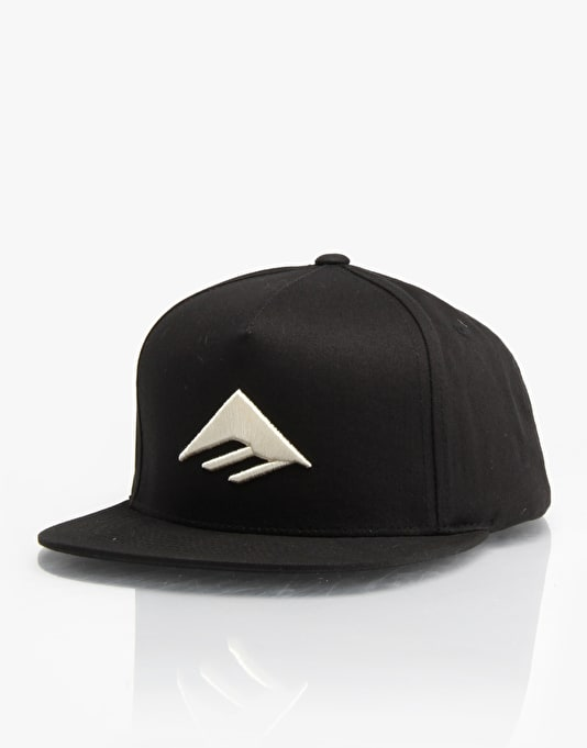 Emerica Triangle Snapback Cap - Black/Black