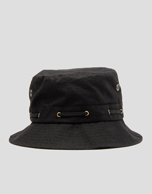 Grizzly Bear Trap Bucket Hat - Black