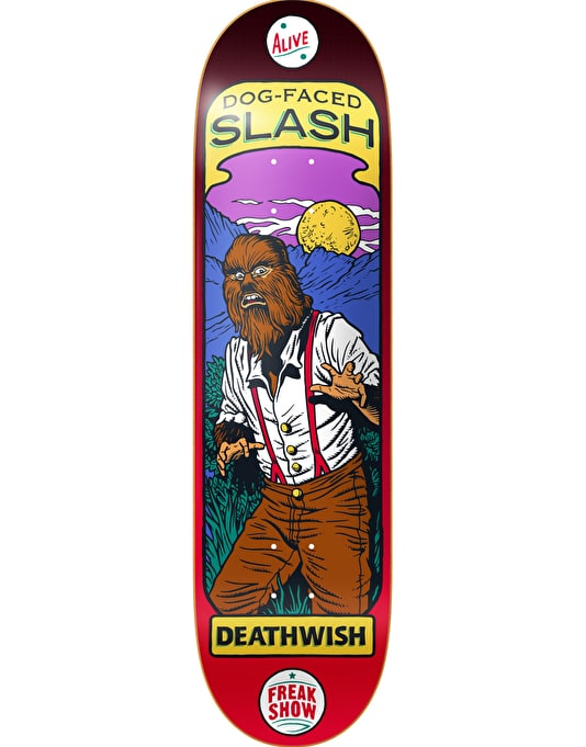 Deathwish Slash Freak Show Pro Deck - 8.38""