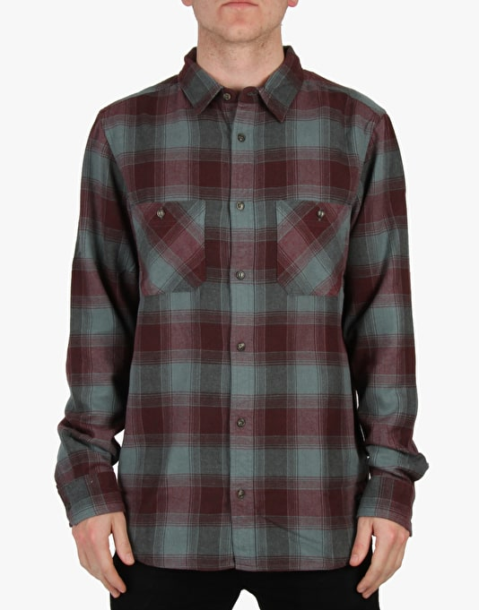 DC Richmond L/S Shirt - Green/Red