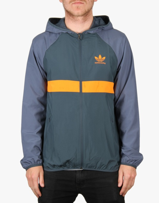 Adidas ADV Wind Jacket - Oxford Blue/Bright Orange