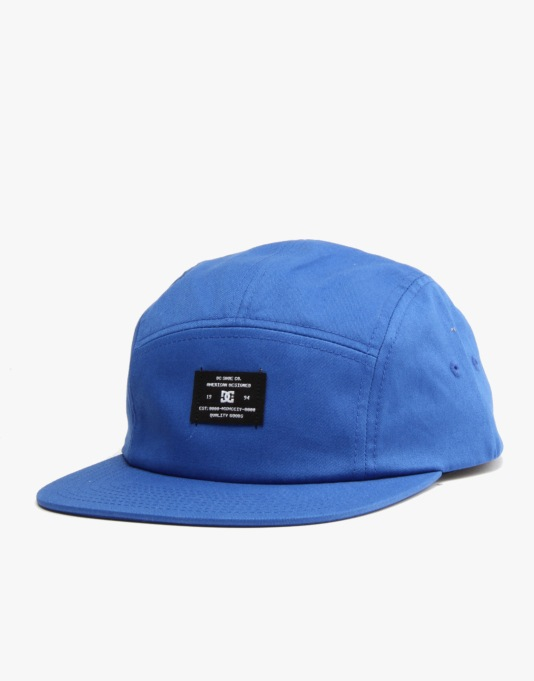 DC Campy 5 Panel Cap - Royal Blue
