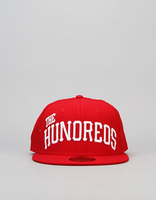 The Hundreds x New Era Pits Fitted Cap - Red