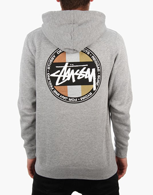 Stüssy Metallic Dot Pullover Hoodie - Grey Heather