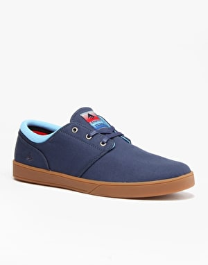 Emerica The Figueroa Slip On Skate Shoes - Blue
