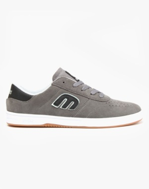 Etnies Lo Cut Skate Shoes - Grey/Black