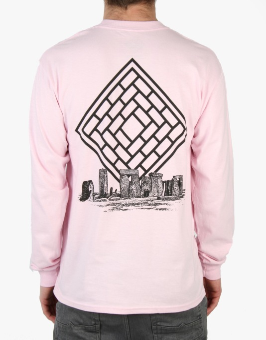The National Skateboard Co. Monolith L/S T-Shirt - Pink