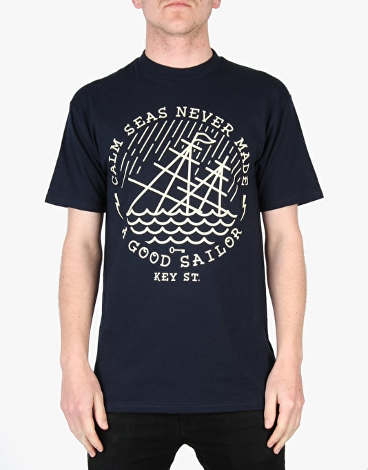 Key Street Calm Seas T-Shirt - Navy