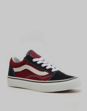 Vans Old Skool Boys Skate Shoes - (Vintage) Blue Graphite/Windsor Wine