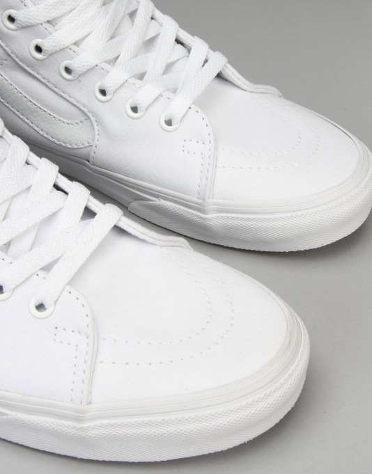 Vans Sk8-Hi Skate Shoes - True White