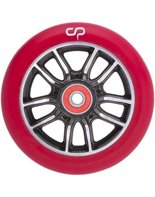 Crisp F1 Forged Scooter Wheel - 110mm - Black Silver/Red