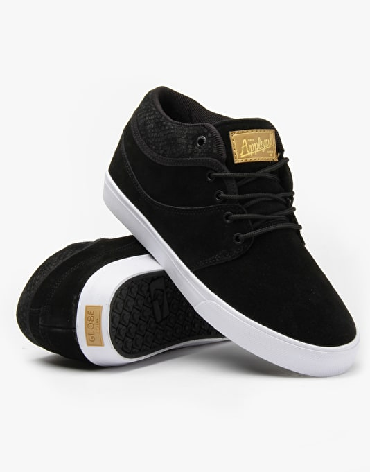 Globe Mahalo Mid Skate Shoes - Black Snake