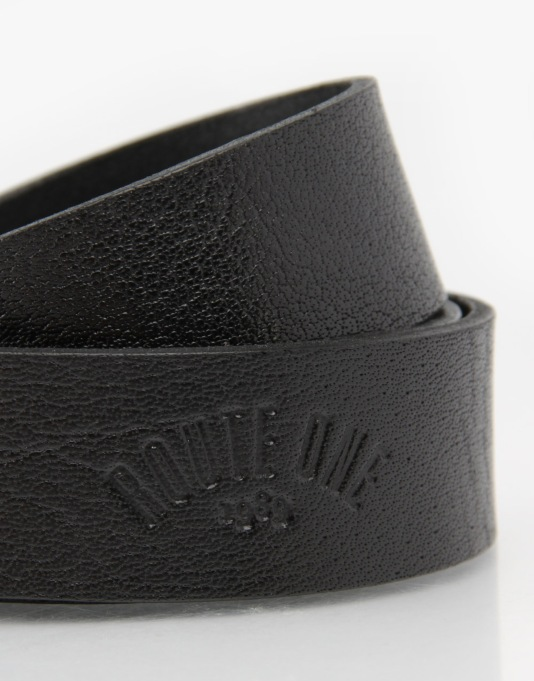 Route One Leather Belt - Black