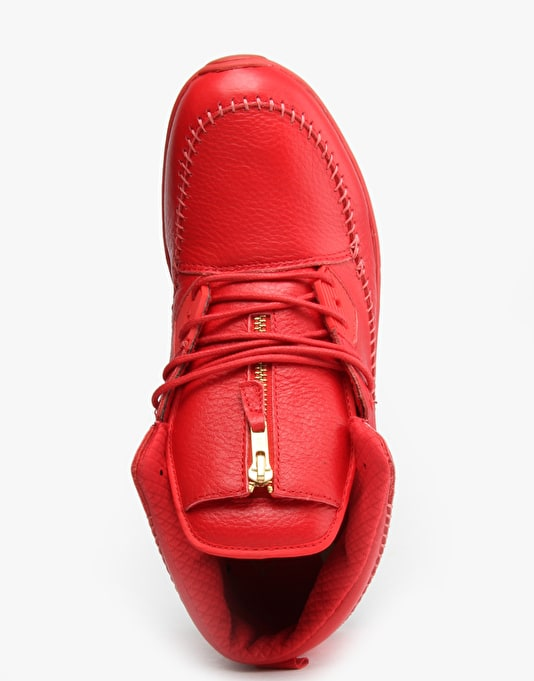 Diamond Native Trek Shoes - Red Leather