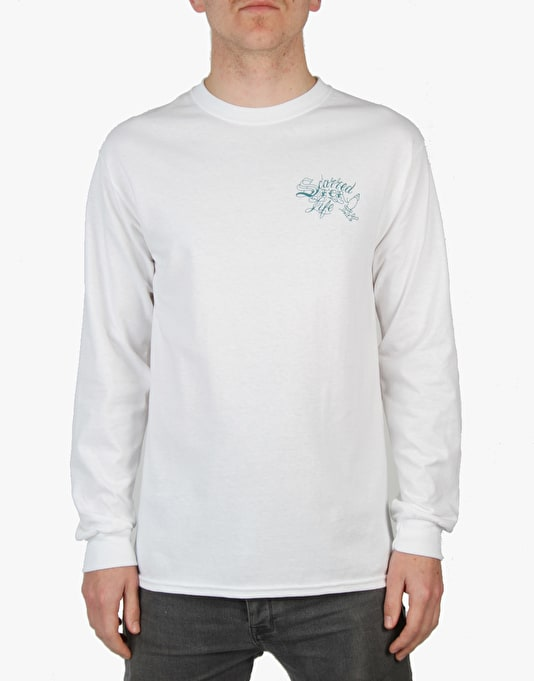Scarred For Life Ship LS T-Shirt - White