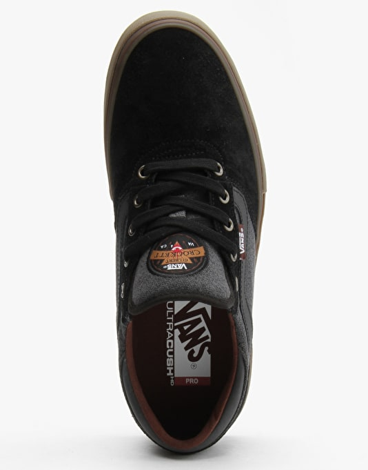 Vans Gilbert Crockett Pro Skate Shoes - (Covert Twill) Black