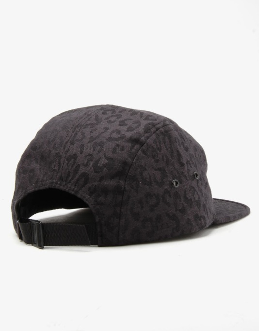 HUF Jacquard Leopard Volley 5 Panel Cap - Black