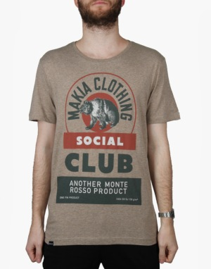 Makia Social Club T-Shirt - Sand
