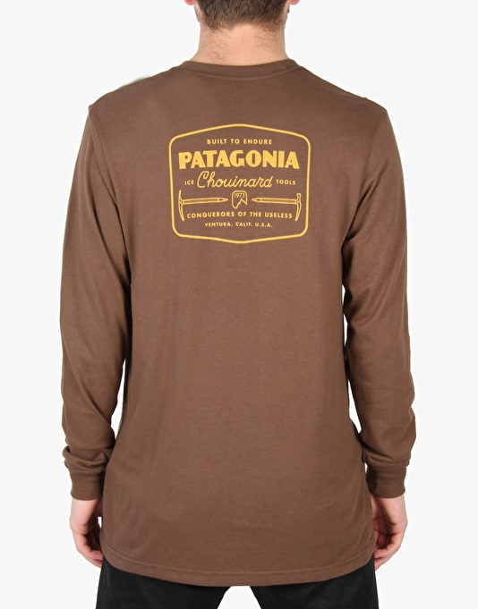 Patagonia L/S Chouinard Ice Tools T-Shirt - Alpaca Brown