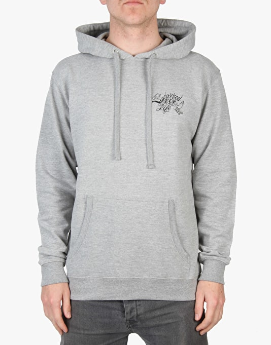 Scarred For Life Ship Pullover Hoodie - Heather Grey