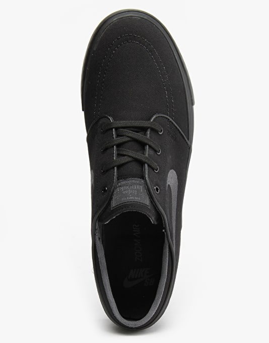 Nike SB Zoom Stefan Janoski Canvas Skate Shoes - Black/Anthracite