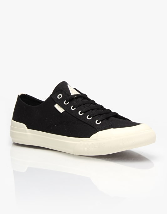 HUF Classic Lo Skate Shoes - Black Canvas