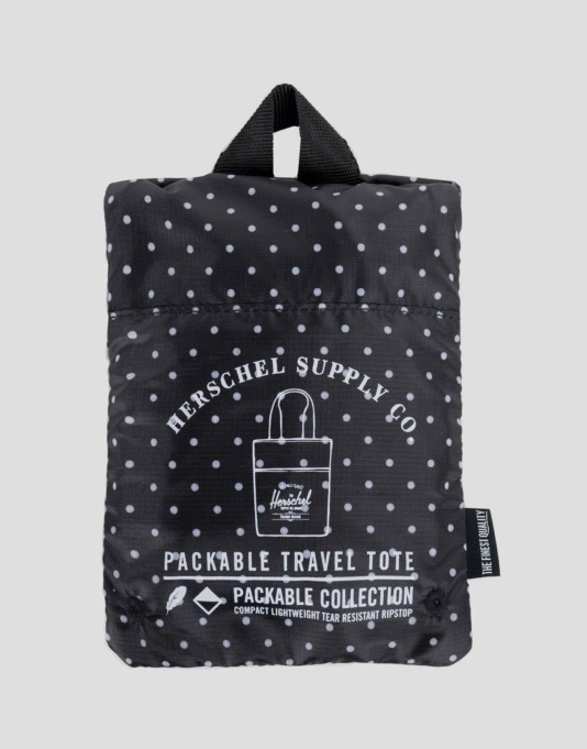 Herschel Supply Co. Packable Travel Tote Bag - Polka