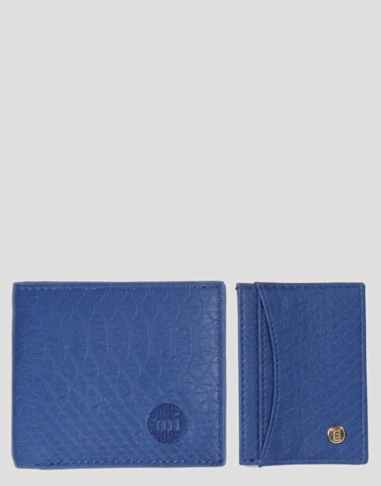 Mi-Pac Card Holder & Wallet Gift Set - Snakeskin Blue