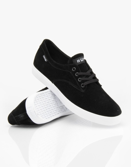 HUF Sutter Skate Shoes - Black/White