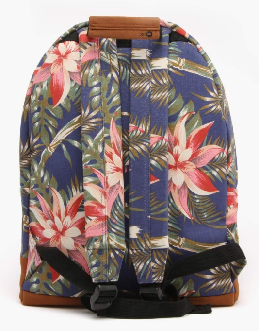 Mi-Pac Palm Floral Backpack - Navy