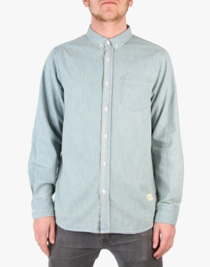 Wemoto Raylon Denim Shirt - Light Blue