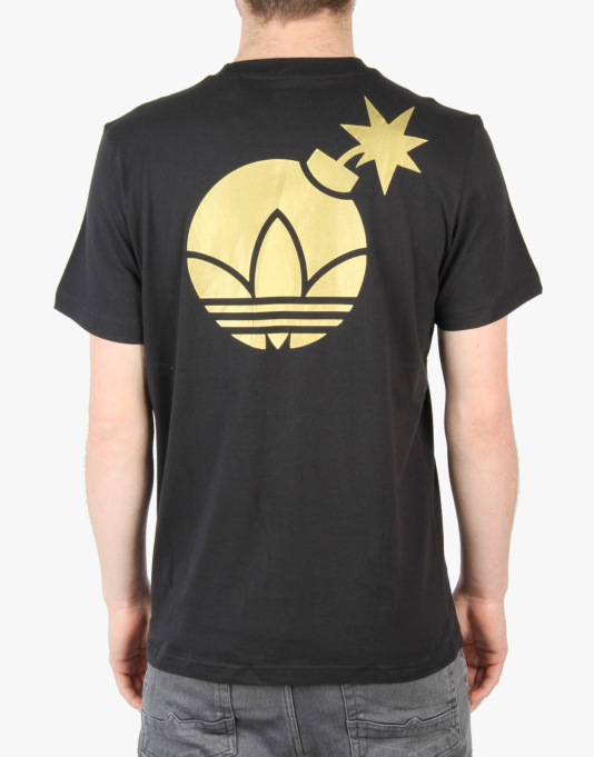 Adidas x The Hundreds Gold Bombs T-Shirt - Black/Matte Gold