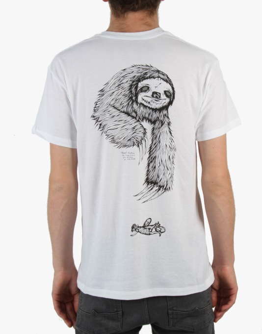 Welcome Sloth T-Shirt - White/Black