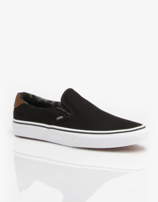 Vans Slip On 59 Skate Shoes - (C&L) Black/Camo