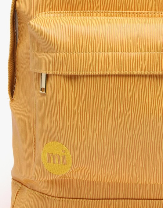 Mi-Pac Gold Wood Grain Backpack - Ochre