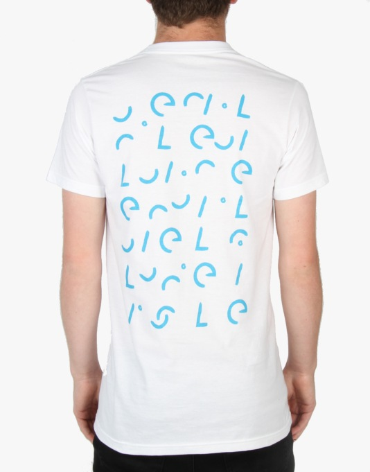 Isle Fragmented T-Shirt - White/Aqua