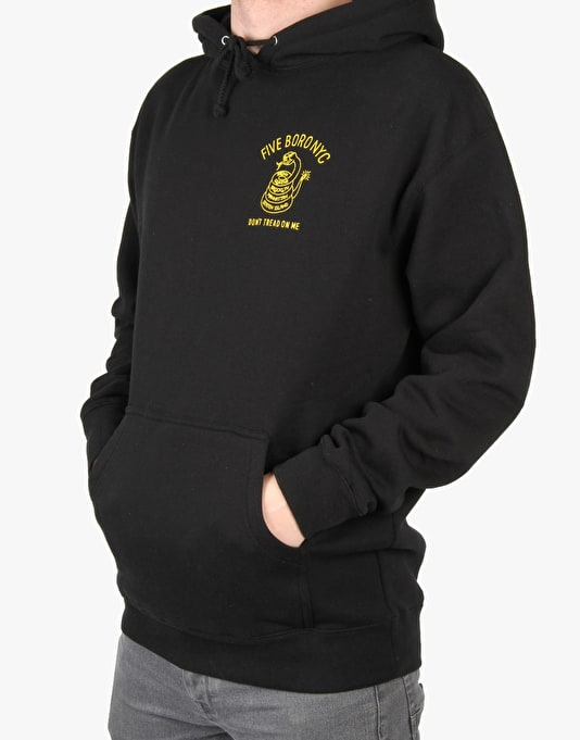 5Boro Dont Tread On Me Pullover Hoodie - Black/Yellow