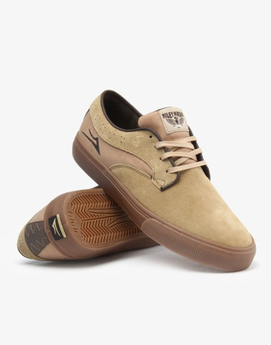 Lakai Riley Hawk Skate Shoes - Walnut Suede