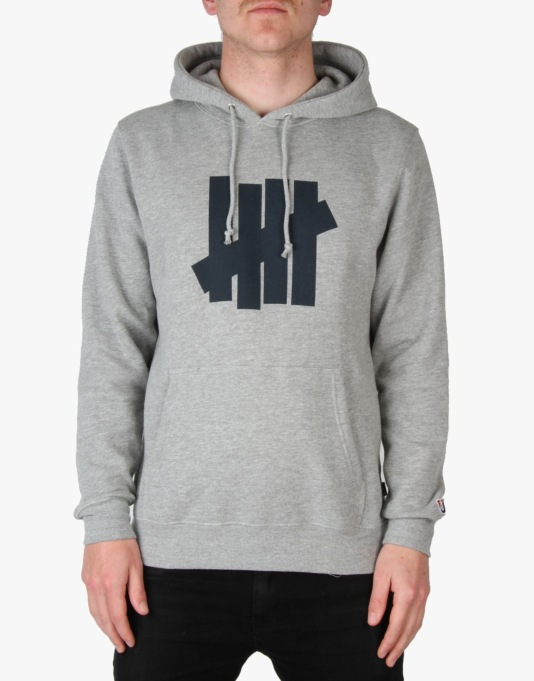 Undefeated 5 Strike Pullover Hoodie - Grey Heather