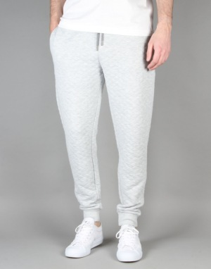 Route One Quilted Sweatpants - Heather Grey