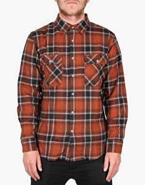 Brixton Bowery L/S Flannel Shirt - Rust