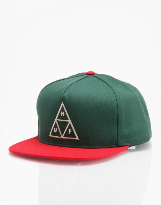 HUF Triple Triangle Snapback Cap - Forest