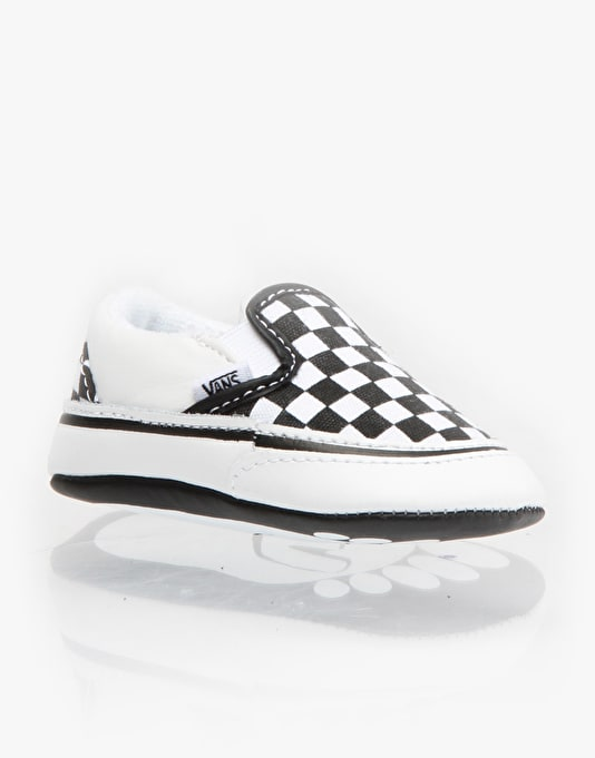 Vans Classic Slip-On Crib Shoes - Black/White Checkerboard