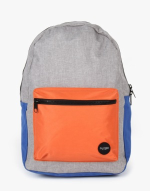 Globe Dux Deluxe Backpack - Grey/Orange