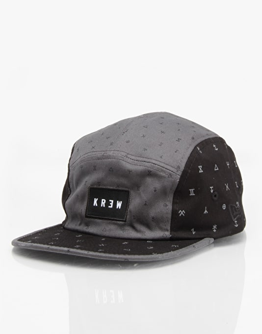 Kr3w Coven 5 Panel Cap - Black/Slate
