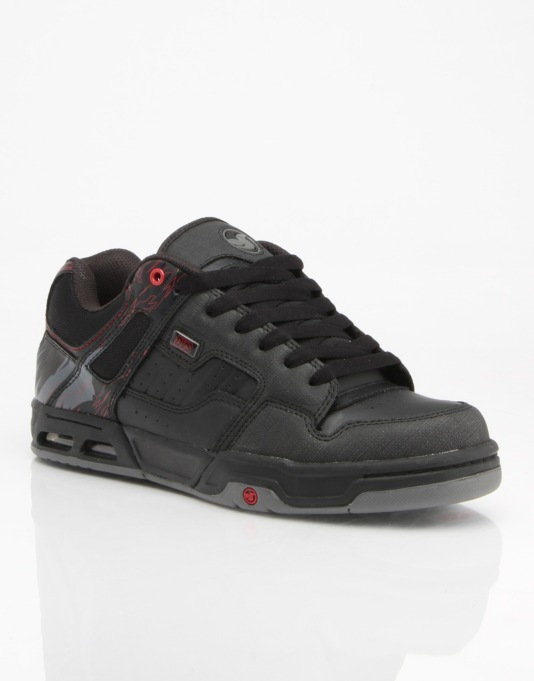 DVS Enduro Heir Skate Shoes - Black Leather